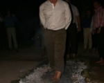 Corporate fire walk