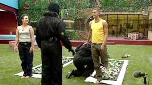 Big Brother housemates doing glass walk led by Survivorbility